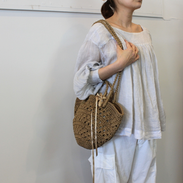 TOUJOURS(トゥジュー) 20SS CLASSIC PLEATED BLOUSE TM32JS02【K】(1)