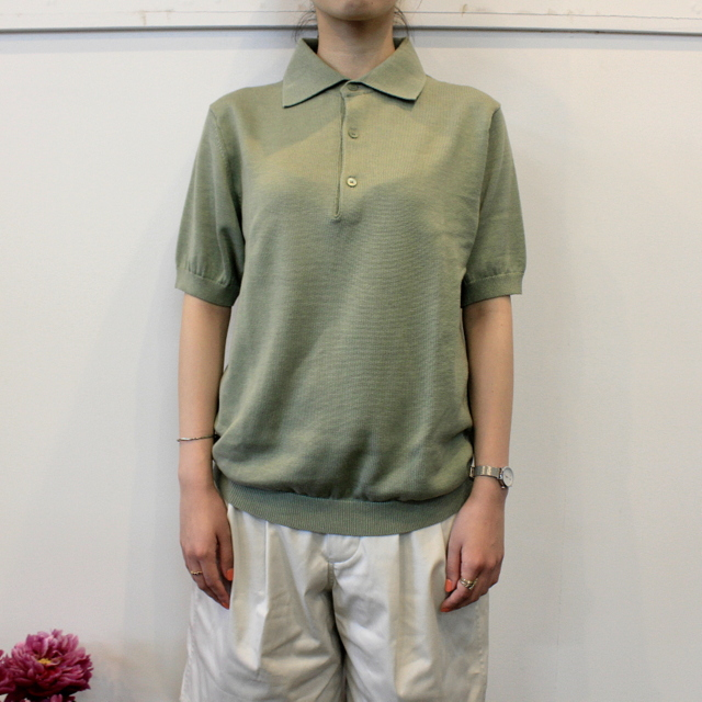 LENO&Co.(リノアンドコー) 【20SS】COTTON SILK KNIT POLO(2色展開)_L2001K002【Z】(1)