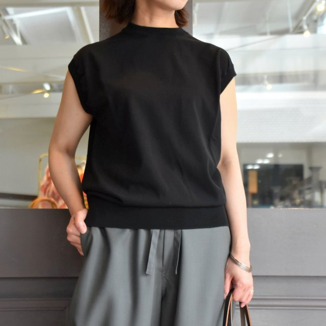 【30% off sale】YLÉVE(イレーヴ) 【2020】FINE COTTON SLEEVELESS KN(2色展開) #168-0160012(1)