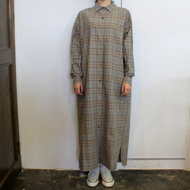 LENO&Co.(リノアンドコー) 【20AW】OPEN-FRONT DRESS_L2002DR001【K】(1)