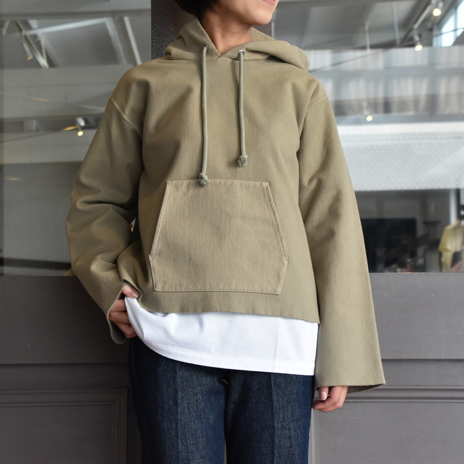 AURALEE(オーラリー) SUPER MILLED SWEAT CUT-OFF P/O PARKA #A20AP04SM(1)