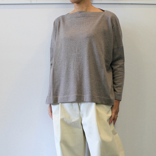 DANIELA GREGIS(ダニエラ グレジス)  BOATNECK SWEATER_MB1P-W44【K】(1)