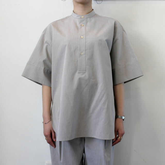 AURALEE(オーラリー)【21SS】WASHED FINX RIPSTOP CHAMBRAY HALF SLEEVED SHIRTS_A21SS06FL【K】(1)