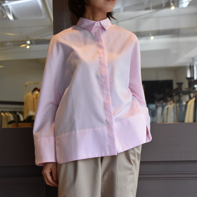 TENNE HANDCRAFTED MODERN(テン ハンドクラフテッドモダン) GUSSET SL SHIRT WITH COLLAR #0013-21SS(1)