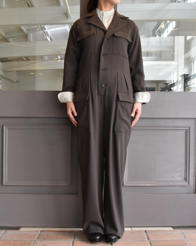 【40% off sale】AURALEE(オーラリー)  HARD TWIST WOOL BARATHEA JUMPSUIT #A9AT01BB(2)