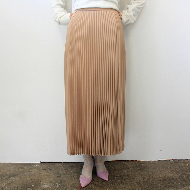 Graphpaper(グラフペーパー)【20 SS】Silk Wool Pleat Skirt_GL201-40039【K】(2)