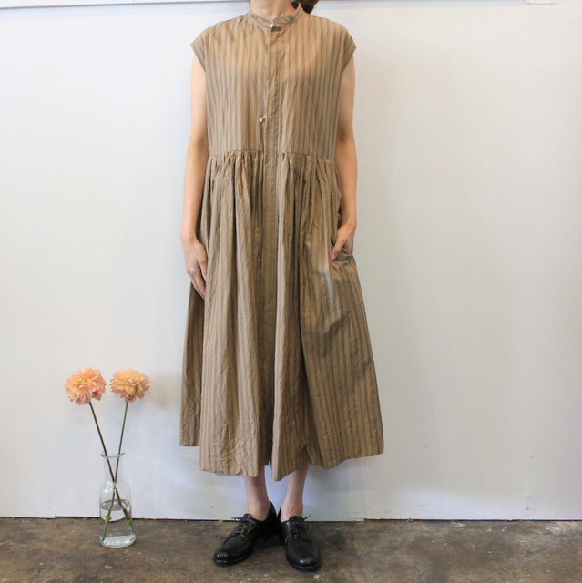 TOUJOURS(トゥジュー)【20SS】Sleeveless Band Collar Dress TM32FD02 【K】(2)