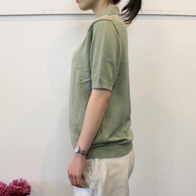 LENO&Co.(リノアンドコー) 【20SS】COTTON SILK KNIT POLO(2色展開)_L2001K002【Z】(2)