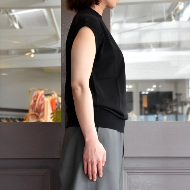 【30% off sale】YLÉVE(イレーヴ) 【2020】FINE COTTON SLEEVELESS KN(2色展開) #168-0160012(2)