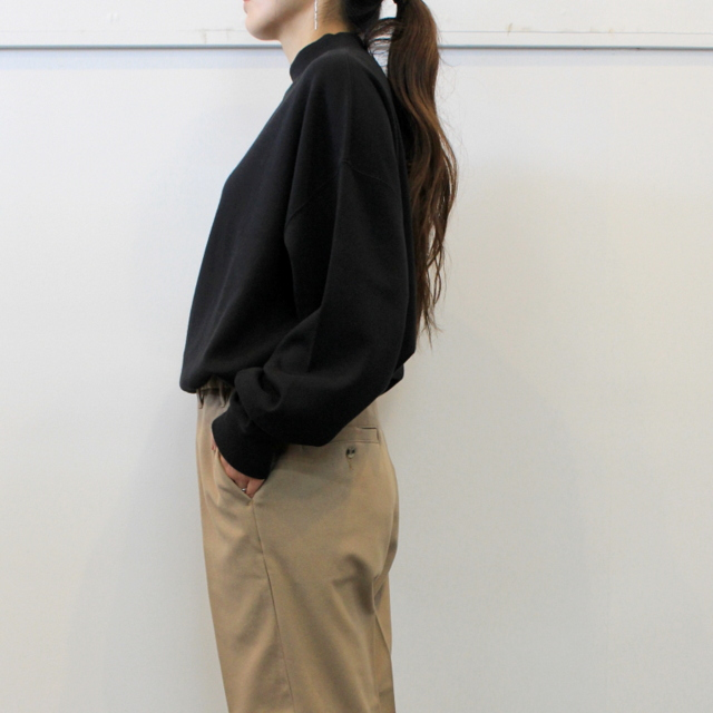 LENO&Co.(リノアンドコー) 【20AW】MOCK NECK LONG T-SHIRT_H2002CS002【K】(2)