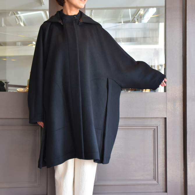 TENNE HANDCRAFTED MODERN(テン ハンドクラフテッドモダン) SUPER 180'S WOOL CAPE WITH HOOD #0020CT(2)