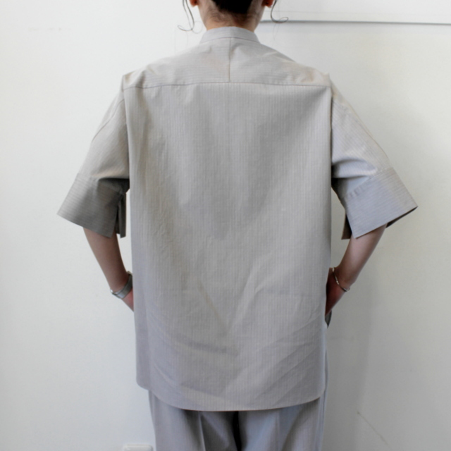 AURALEE(オーラリー)【21SS】WASHED FINX RIPSTOP CHAMBRAY HALF SLEEVED SHIRTS_A21SS06FL【K】(2)