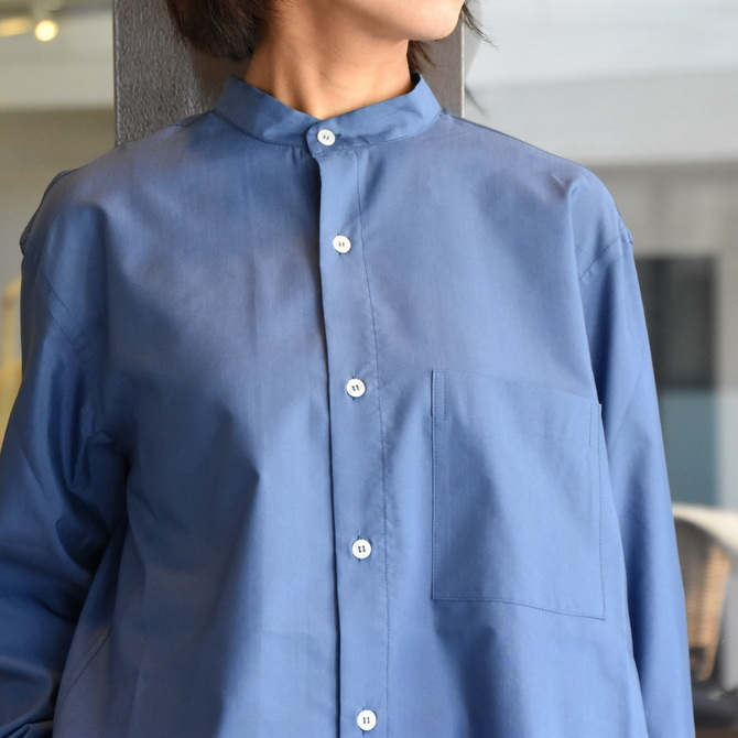 CristaSeya(クリスタセヤ)/ SILK AND COTTON MAO SHIRT #08DA-SC-BL(2)