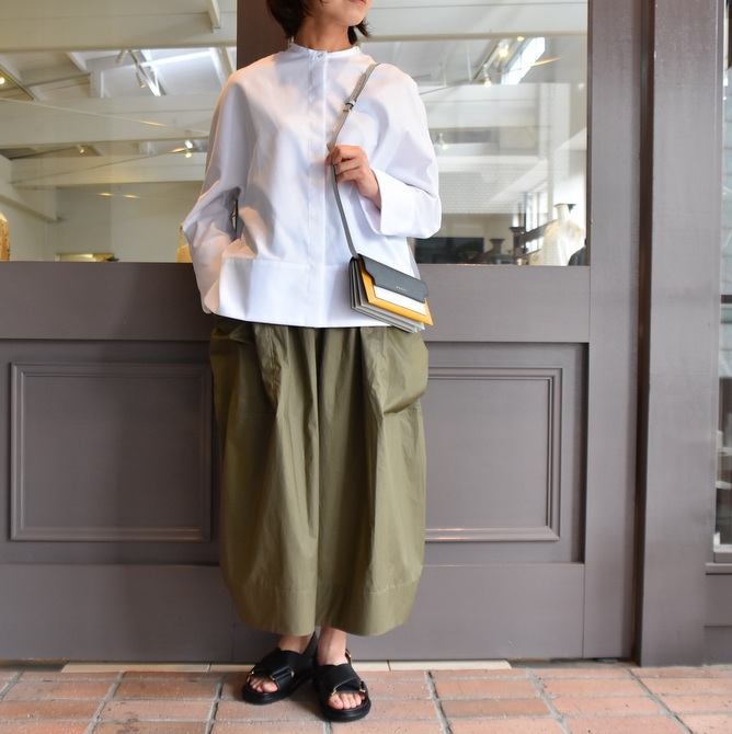 TENNE HANDCRAFTED MODERN(テン ハンドクラフテッドモダン) GUSSET SL SHIRT WITH COLLAR #0013-21SS(2)