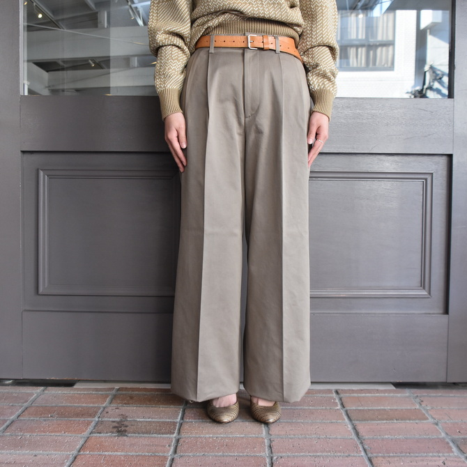 【40% off sale】AURALEE(オーラリー)  WASHED FINX CHINO WIDE TUCK PANT #A9AP02CN【Z】(3)