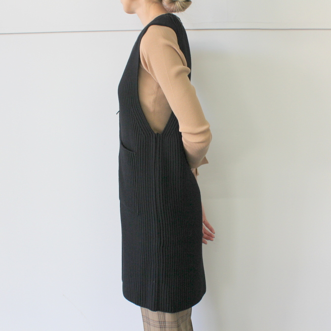 【40% off sale】AURALEE(オーラリー) SUPER WOOL RIB KNIT LONG VEST_A9AV07RK【K】(3)