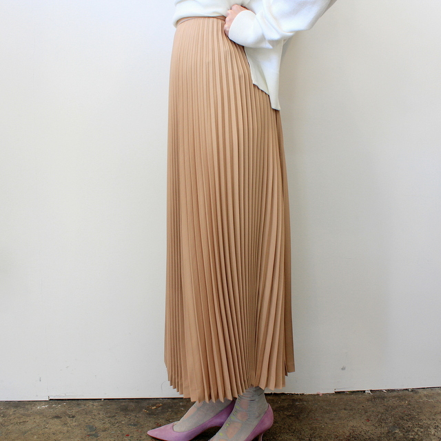 Graphpaper(グラフペーパー)【20 SS】Silk Wool Pleat Skirt_GL201-40039【K】(3)