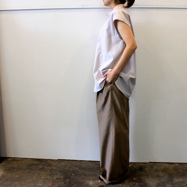 【30% off sale】AURALEE(オーラリー) 【20SS】WASHED FINX TWILL SLEEVELESS SHIRTS _A20SS05TN【K】(3)