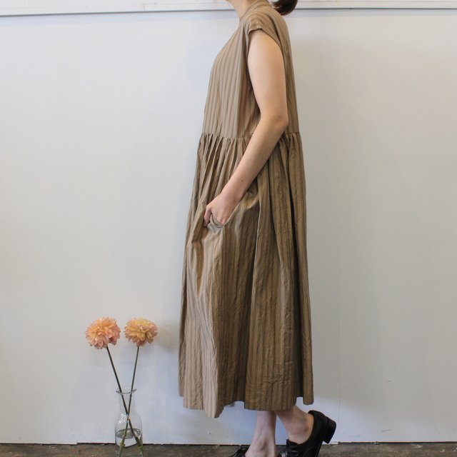 TOUJOURS(トゥジュー)【20SS】Sleeveless Band Collar Dress TM32FD02 【K】(3)