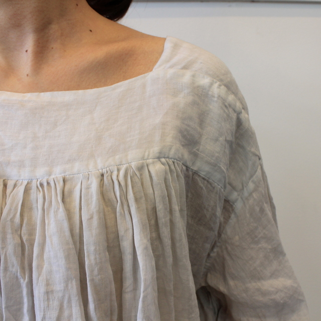 TOUJOURS(トゥジュー) 20SS CLASSIC PLEATED BLOUSE TM32JS02【K】(3)