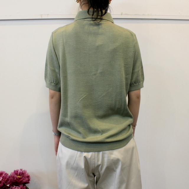 LENO&Co.(リノアンドコー) 【20SS】COTTON SILK KNIT POLO(2色展開)_L2001K002【Z】(3)