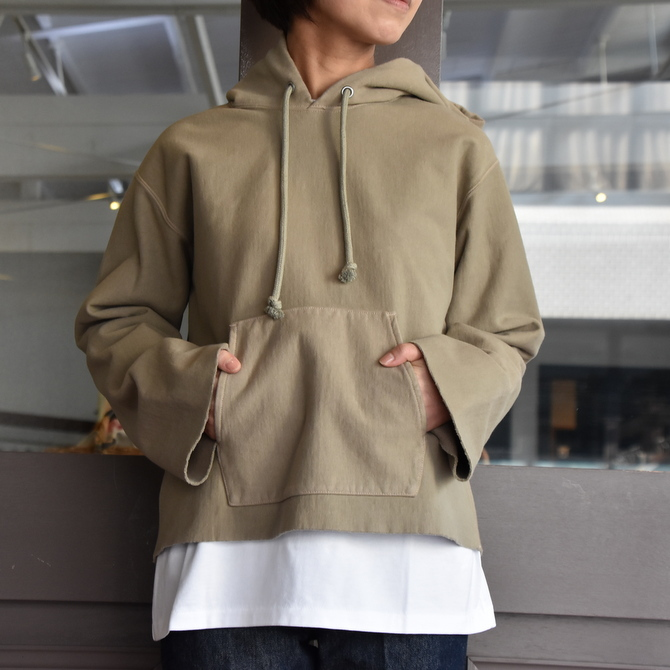 AURALEE(オーラリー) SUPER MILLED SWEAT CUT-OFF P/O PARKA #A20AP04SM(3)