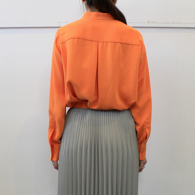 Graphpaper(グラフペーパー)【20 AW】Satin Band Collar Blouse (ORANGE)_GL203-50034【K】(3)