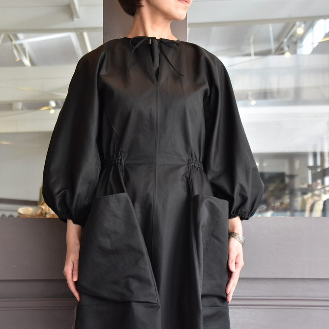 TENNE HANDCRAFTED MODERN(テン ハンドクラフテッドモダン) VOLUME SLEEVE DRESS #0014DR(3)