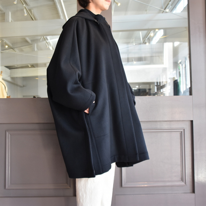 TENNE HANDCRAFTED MODERN(テン ハンドクラフテッドモダン) SUPER 180'S WOOL CAPE WITH HOOD #0020CT(3)