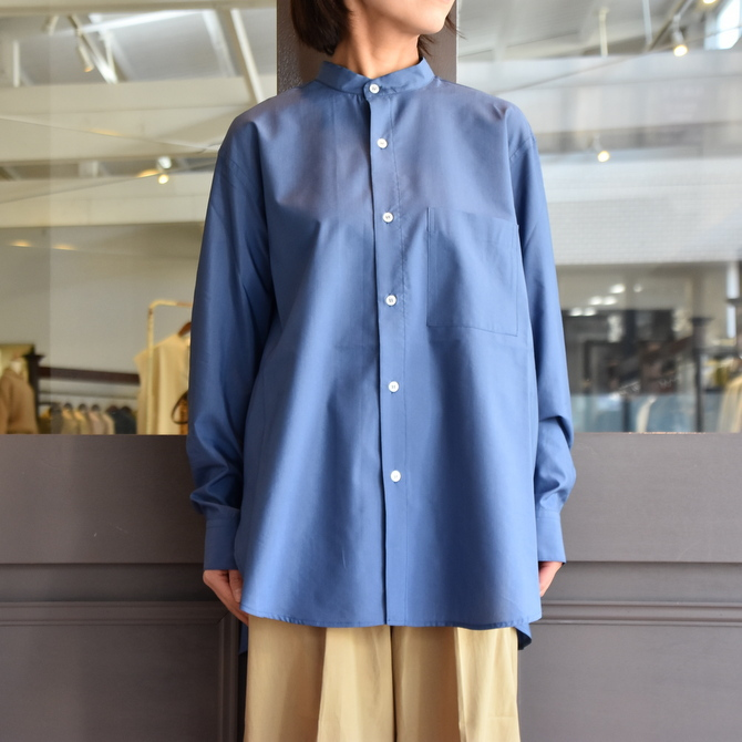 CristaSeya(クリスタセヤ)/ SILK AND COTTON MAO SHIRT #08DA-SC-BL(3)