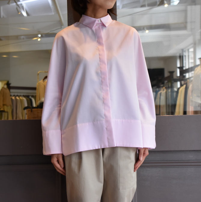 TENNE HANDCRAFTED MODERN(テン ハンドクラフテッドモダン) GUSSET SL SHIRT WITH COLLAR #0013-21SS(3)