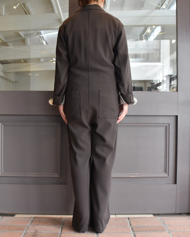 【40% off sale】AURALEE(オーラリー)  HARD TWIST WOOL BARATHEA JUMPSUIT #A9AT01BB(4)