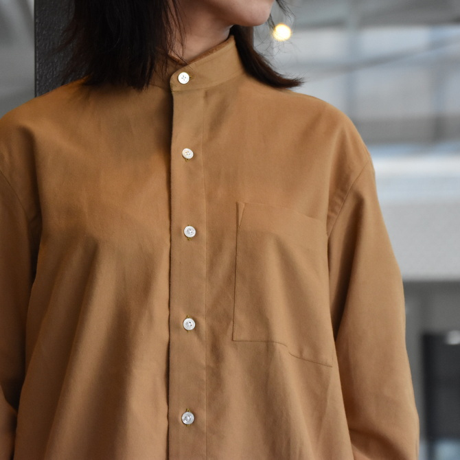 CristaSeya(クリスタセヤ)/ HANDMADE FLANNEL MAO SHIRT WITH FRINGED COLLAR -2colors- #02SP(4)