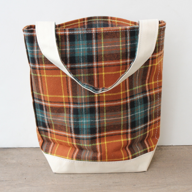 TEMBEA(テンベア)BAGUET TOTE S(WOOL BROWN CHECK)【K】(4)