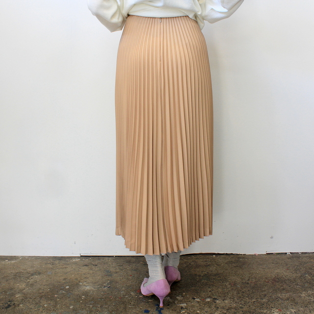 Graphpaper(グラフペーパー)【20 SS】Silk Wool Pleat Skirt_GL201-40039【K】(4)