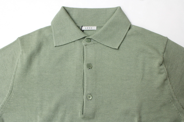 LENO&Co.(リノアンドコー) 【20SS】COTTON SILK KNIT POLO(2色展開)_L2001K002【Z】(4)