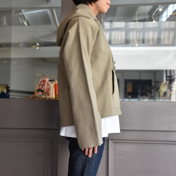 AURALEE(オーラリー) SUPER MILLED SWEAT CUT-OFF P/O PARKA #A20AP04SM(4)