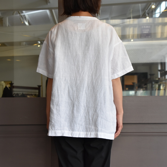 TOUJOURS(トゥジュー)  Stone Washed Belgian Linen Big T-shirt #SM34PS02(4)