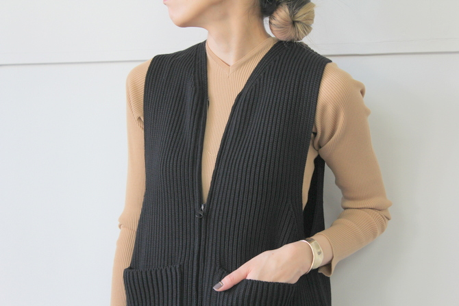 【40% off sale】AURALEE(オーラリー) SUPER WOOL RIB KNIT LONG VEST_A9AV07RK【K】(5)