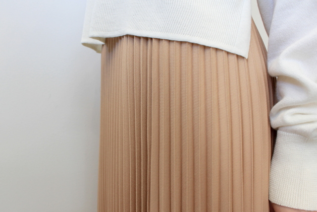 Graphpaper(グラフペーパー)【20 SS】Silk Wool Pleat Skirt_GL201-40039【K】(5)