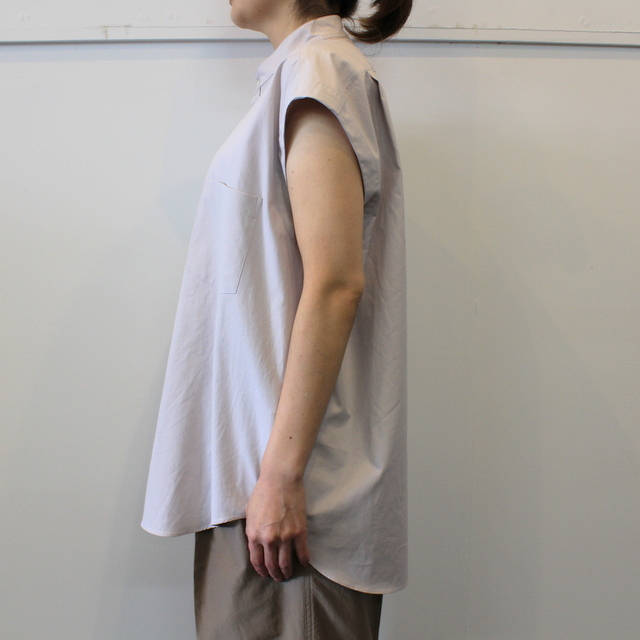 【30% off sale】AURALEE(オーラリー) 【20SS】WASHED FINX TWILL SLEEVELESS SHIRTS _A20SS05TN【K】(5)