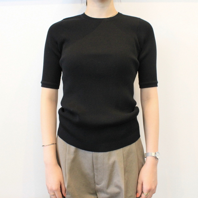 AURALEE(オーラリー) 【20SS】HIGH GAUGE RIB KNIT TEE(2色展開)_A20ST01HR【K】(5)