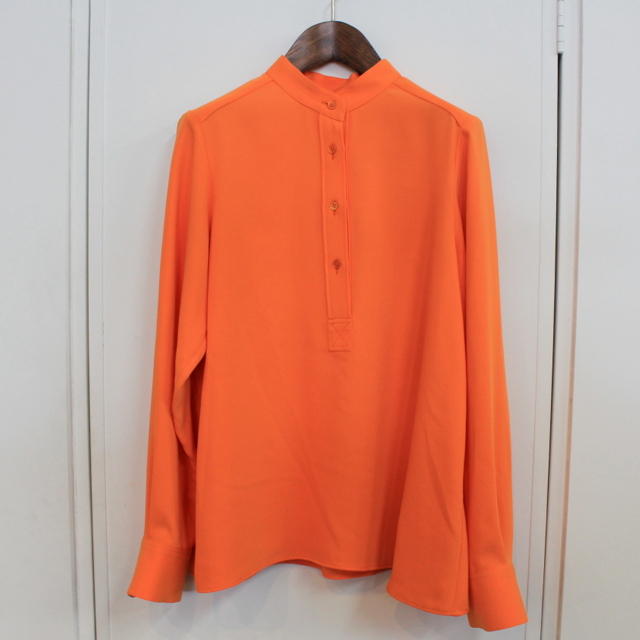 Graphpaper(グラフペーパー)【20 AW】Satin Band Collar Blouse (ORANGE)_GL203-50034【K】(5)
