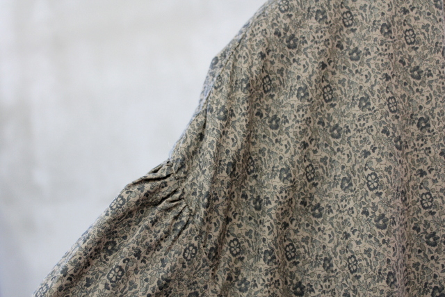 TOUJOURS(トゥジュー)【20AW】Classic Floral Print Gathered Dress_MM33FD01【K】(5)