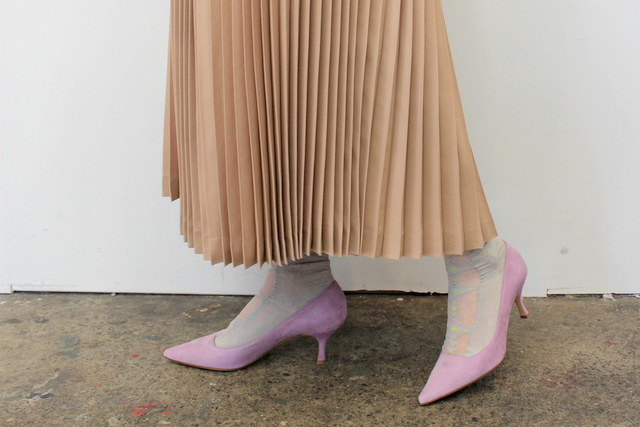 Graphpaper(グラフペーパー)【20 SS】Silk Wool Pleat Skirt_GL201-40039【K】(6)