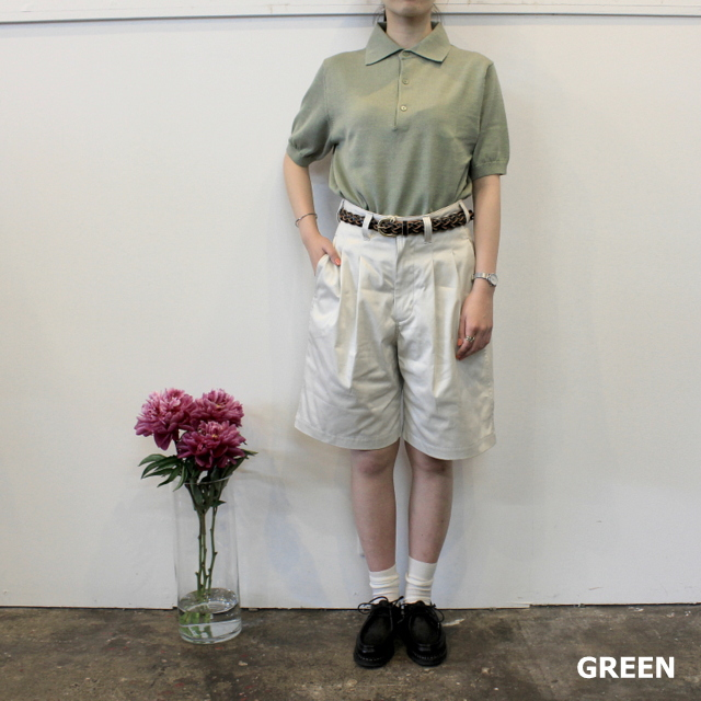 LENO&Co.(リノアンドコー) 【20SS】COTTON SILK KNIT POLO(2色展開)_L2001K002【Z】(6)