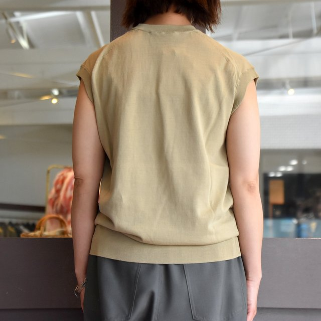 【30% off sale】YLÉVE(イレーヴ) 【2020】FINE COTTON SLEEVELESS KN(2色展開) #168-0160012(6)