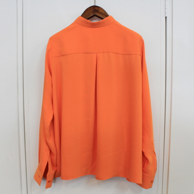 Graphpaper(グラフペーパー)【20 AW】Satin Band Collar Blouse (ORANGE)_GL203-50034【K】(6)