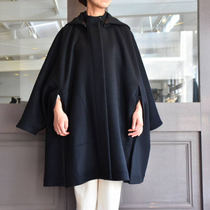 TENNE HANDCRAFTED MODERN(テン ハンドクラフテッドモダン) SUPER 180'S WOOL CAPE WITH HOOD #0020CT(6)
