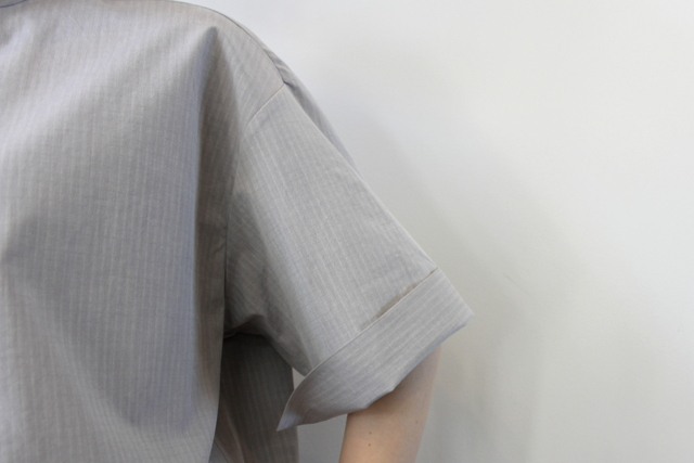 AURALEE(オーラリー)【21SS】WASHED FINX RIPSTOP CHAMBRAY HALF SLEEVED SHIRTS_A21SS06FL【K】(6)